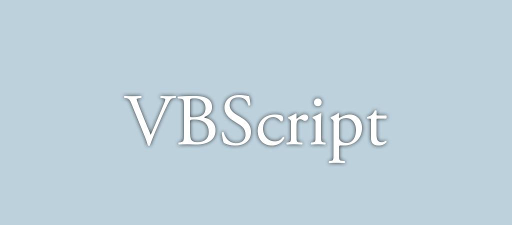 VBScript (Visual Basic Script)