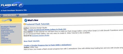 Recursos de flash, ejemplos y demos. Flash Kit