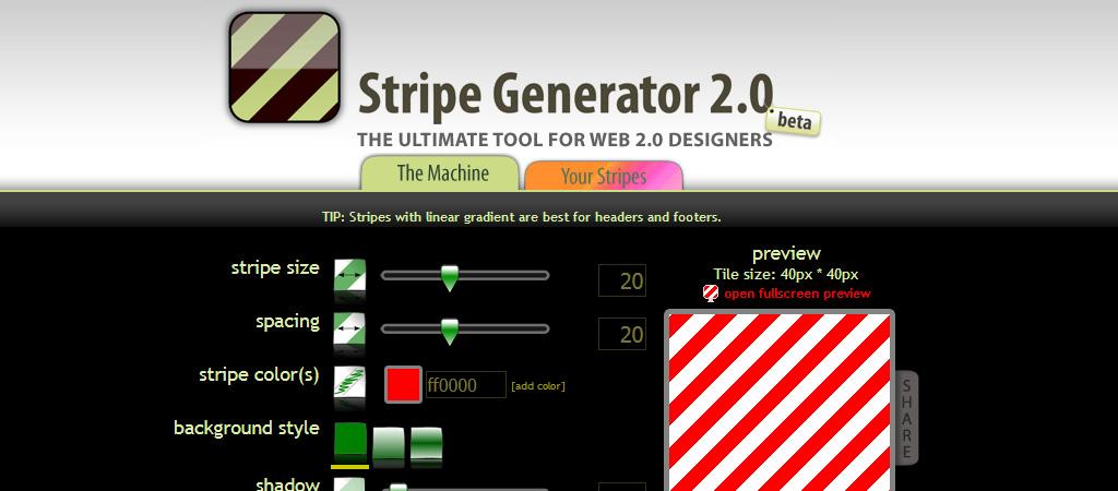 Generador de fondos de rayas de colores