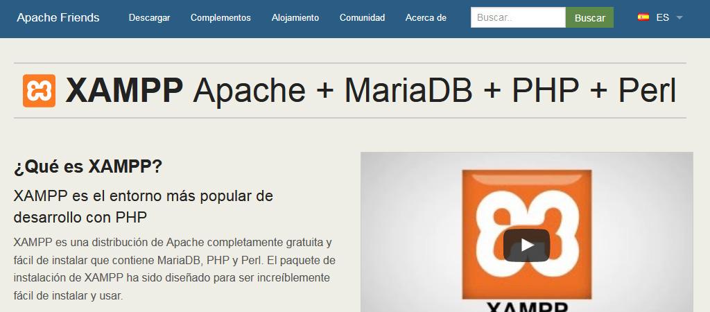 XAMPP, Apache con MySQL, PHP y Perl