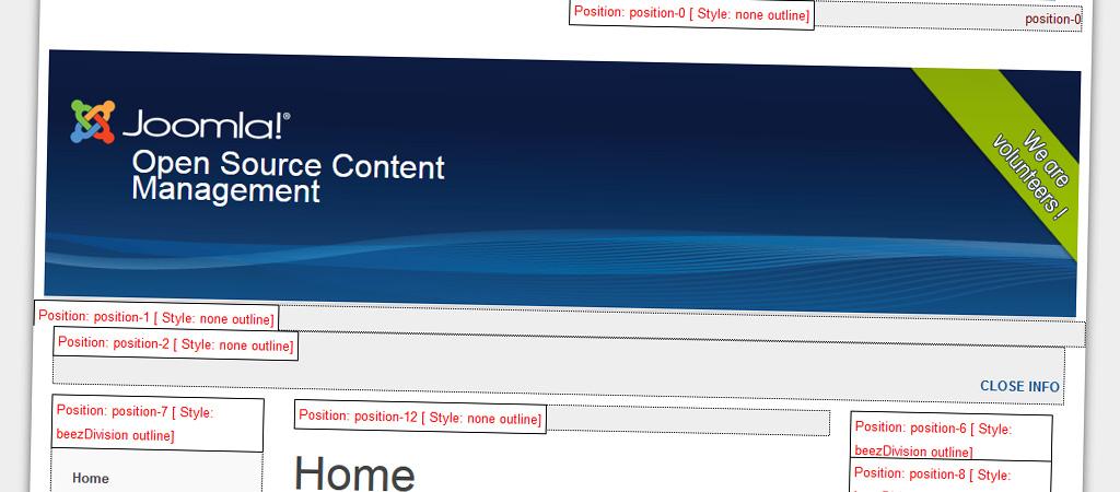 Ver posiciones de los módulos en Joomla! 1.7
