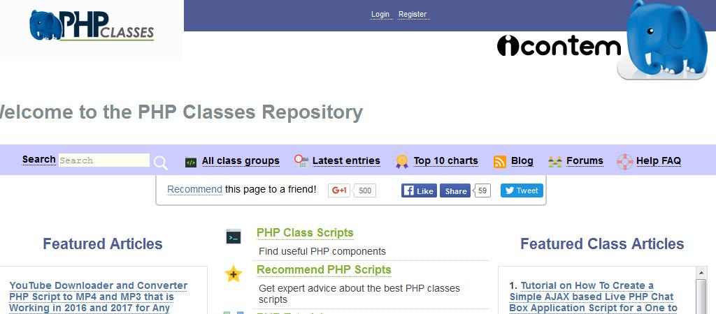 Repositorio de clases PHP