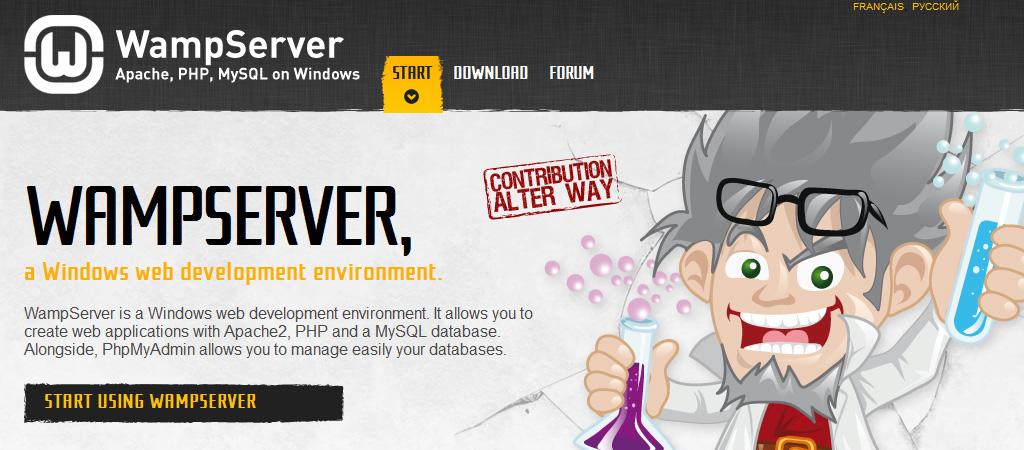 Wamp (Apache, MySQL y PHP para Windows)