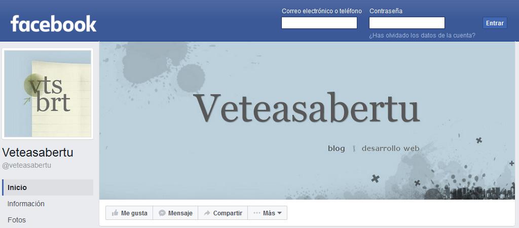 Veteasabertu ya tiene página de Facebook