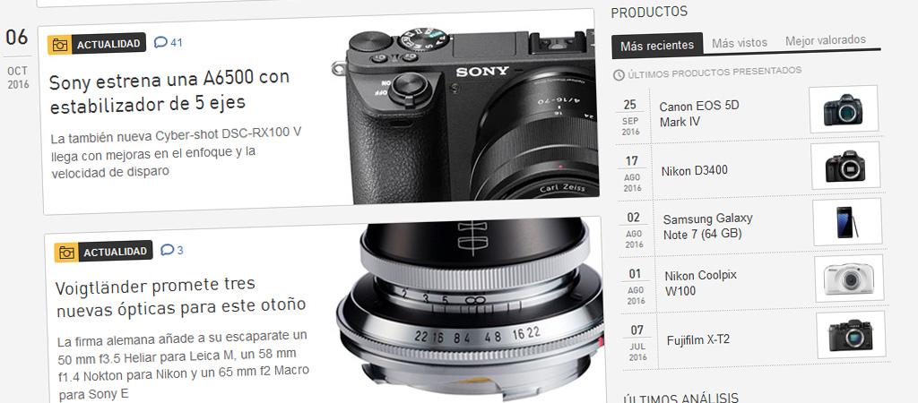 Análisis de cámaras digitales (fotografía y vídeo)