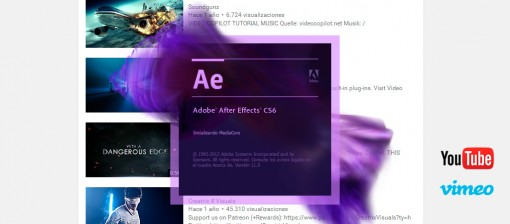 Preparar vídeo HD 720/1080 para Vimeo y Youtube con After Effects CS6