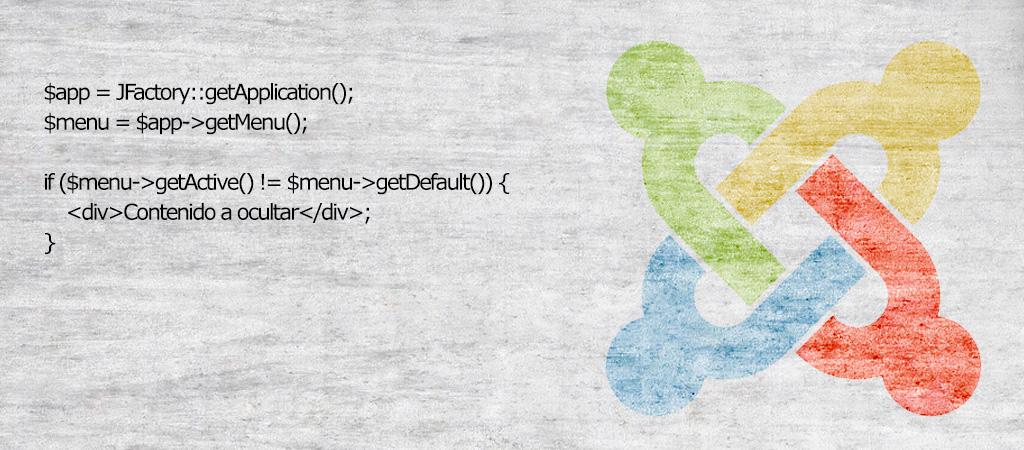 Mostrar u ocultar una capa o un módulo sólo en la página de inicio de un Joomla!