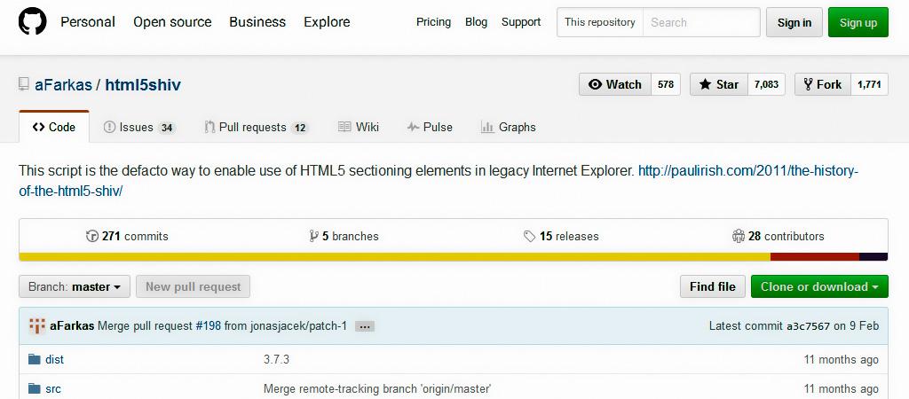 HTML5 no funciona en Internet Explorer - html5shiv
