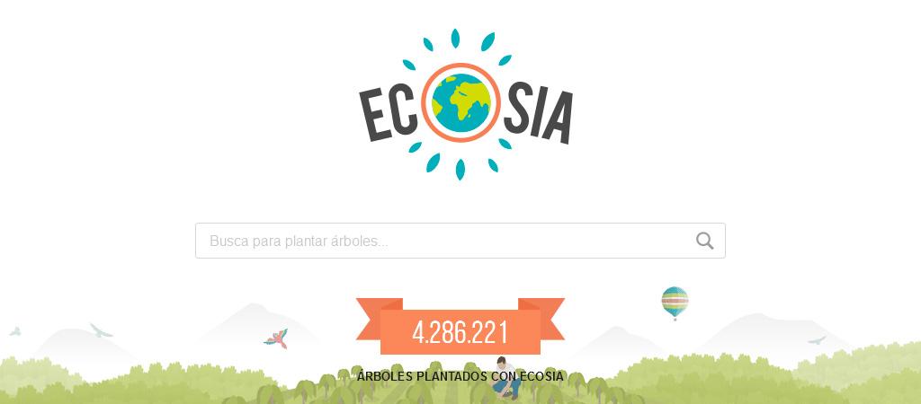 Ecosia, el buscador que planta árboles