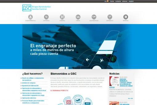 Diseño y desarrollo web de Grupo Aeronáutico Sevilla Control GSC