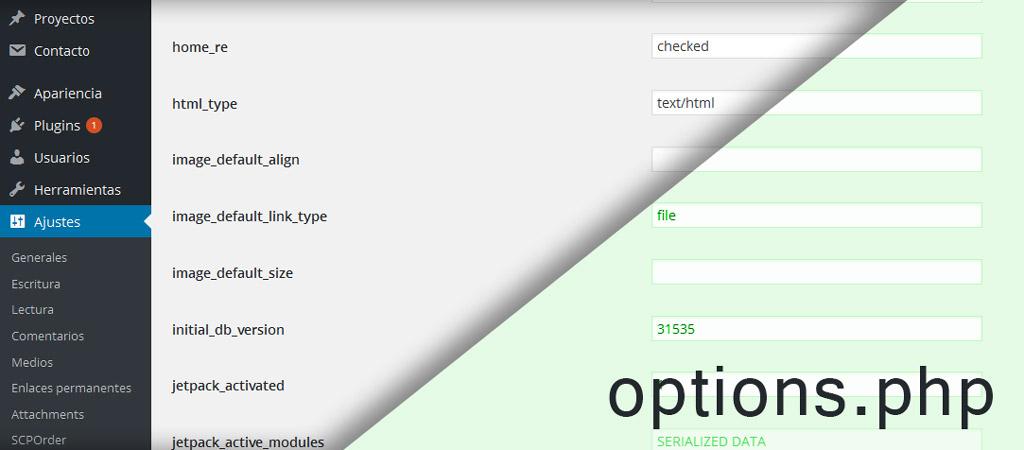 Opciones de configuración ocultas en WordPress