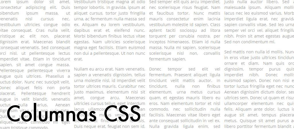 Cómo dividir un párrafos en columnas con CSS (CSS3)