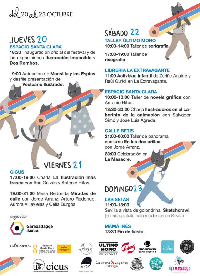 Programa Garabato Fest 2016 - Festival de ilustración en Sevilla