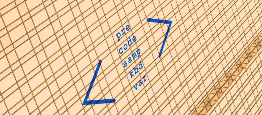 Etiquetas pre, code, samp, kbd y var para mostrar código en HTML