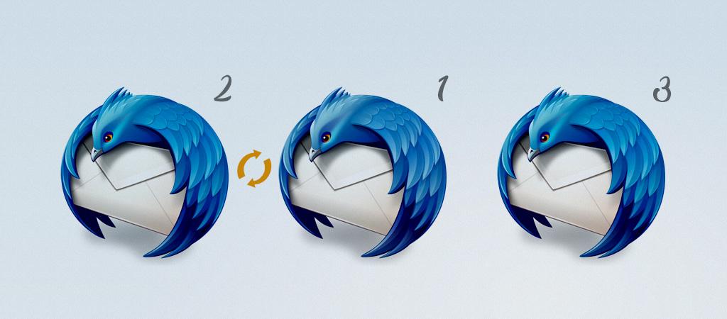 Cambiar orden de las cuentas de correo en Thunderbird