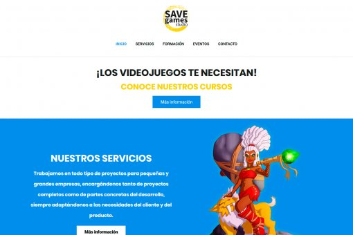 Diseño y desarrollo web en WordPress de Save Games Studio