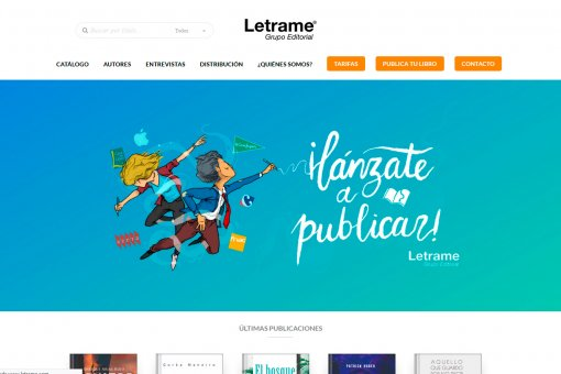 Diseño y desarrollo web en WordPress de editorial Letrame