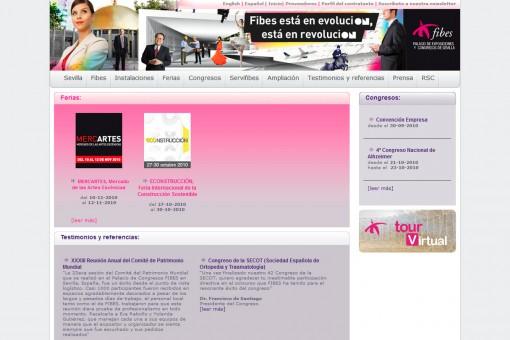 Desarrollo de web de eventos para Fibes Sevilla